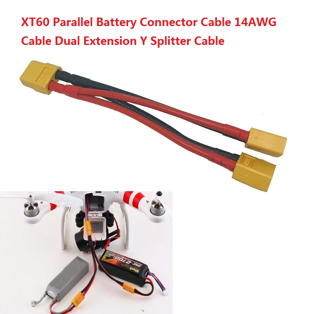 TRX Traxxas Parallel Battery Connector Cable Dual Extension Y Splitter NEW