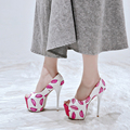 Fashion Sexy High Heel Shoes Coat of paint Platform Pump peep toe women shoes The new summer female shoes