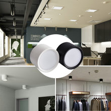 hot deal buy 1pcs surface mounted ceiling downlight smd5730 7w 85-265v lamp smd led downlights ceiling spot light +led driver