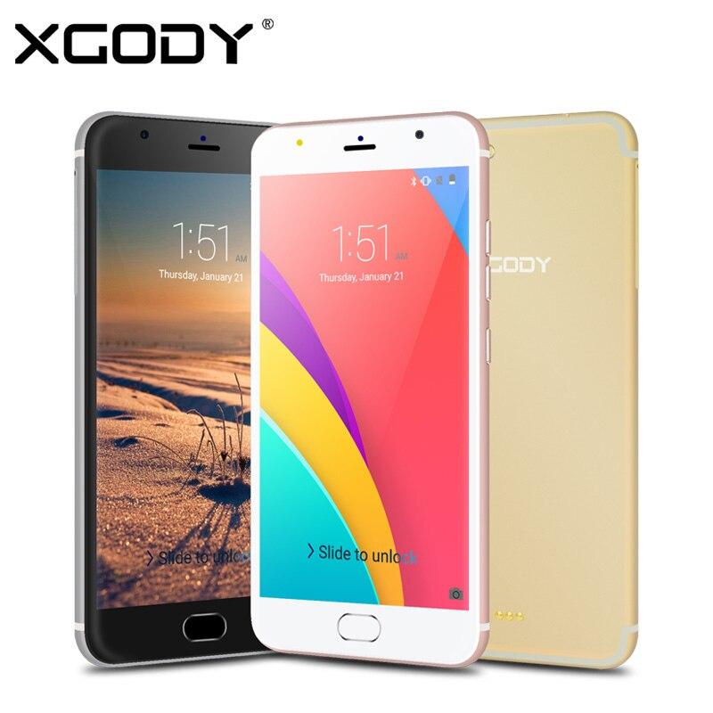 Цена за Xgody mt6580 d11 5.5 дюймов 3 г смартфон quad core 1 ГБ ram 8 ГБ ROM Android 5.1 1280*720 Мобильный Телефон Dual SIM 8.0MP GPS Wi Fi