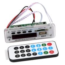 1 UNIDS Inalámbrica Integrada Bluetooth 12 V 5 V USB MP3 WMA Módulo de Placa del decodificador de Audio USB TF de Radio Para Coche ZTV-M01BT Car-styling