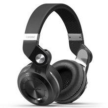 Orignal bluedio t2 + dobrável sobre a orelha bluetooth fones de ouvido bt 4.1 fm rádio & funções de cartão sd música & telefone caixa callsloem