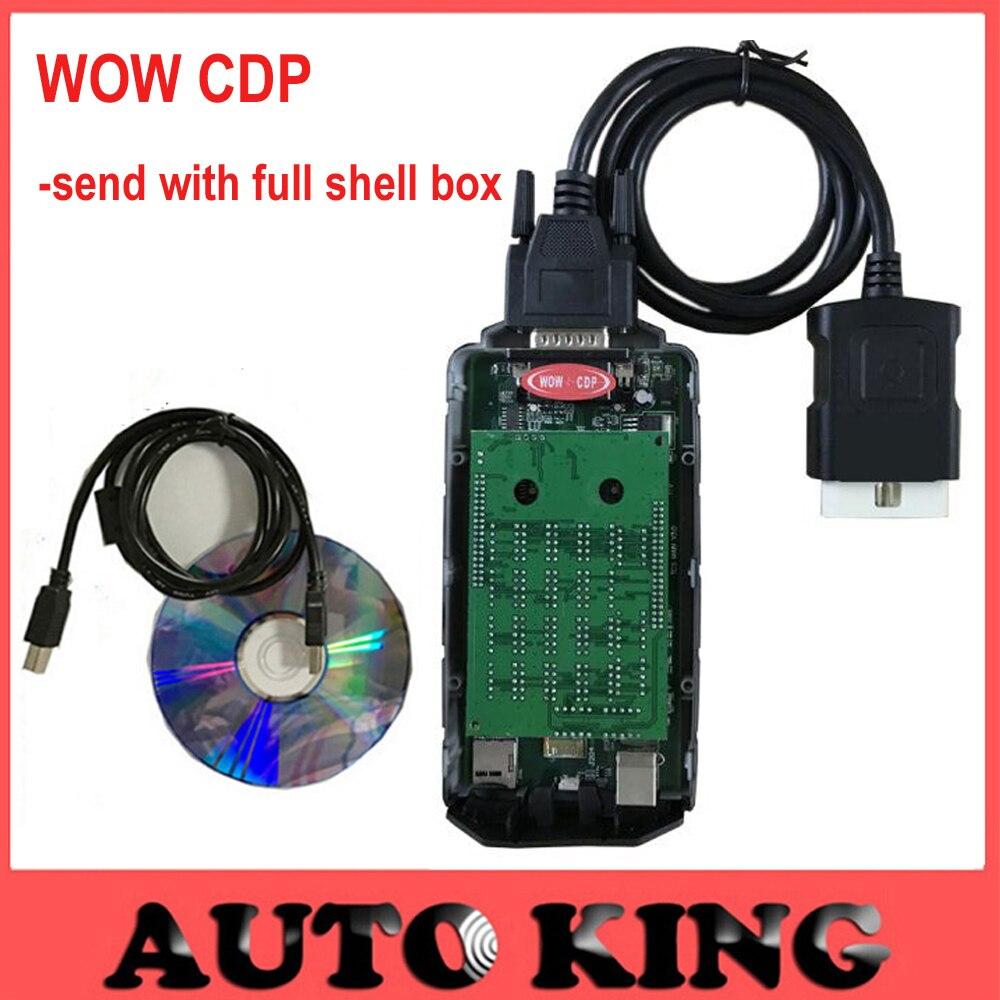 imágenes para 5 Unids/lote wow regalo snooper v5.008r2 software con keygen CDP para los carros de los coches obd2 obd obd2 herramienta de diagnóstico de dhl gratis
