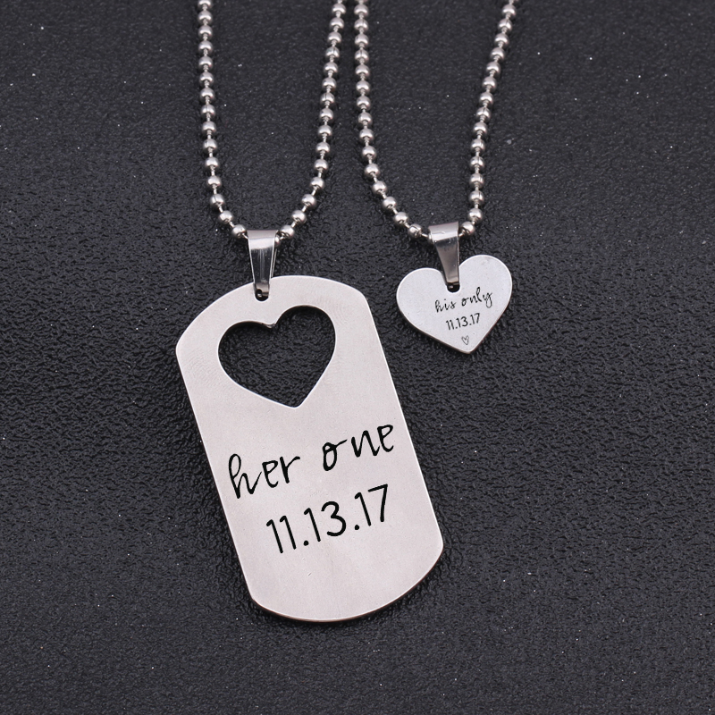 Personalized Memorial jewelry set.