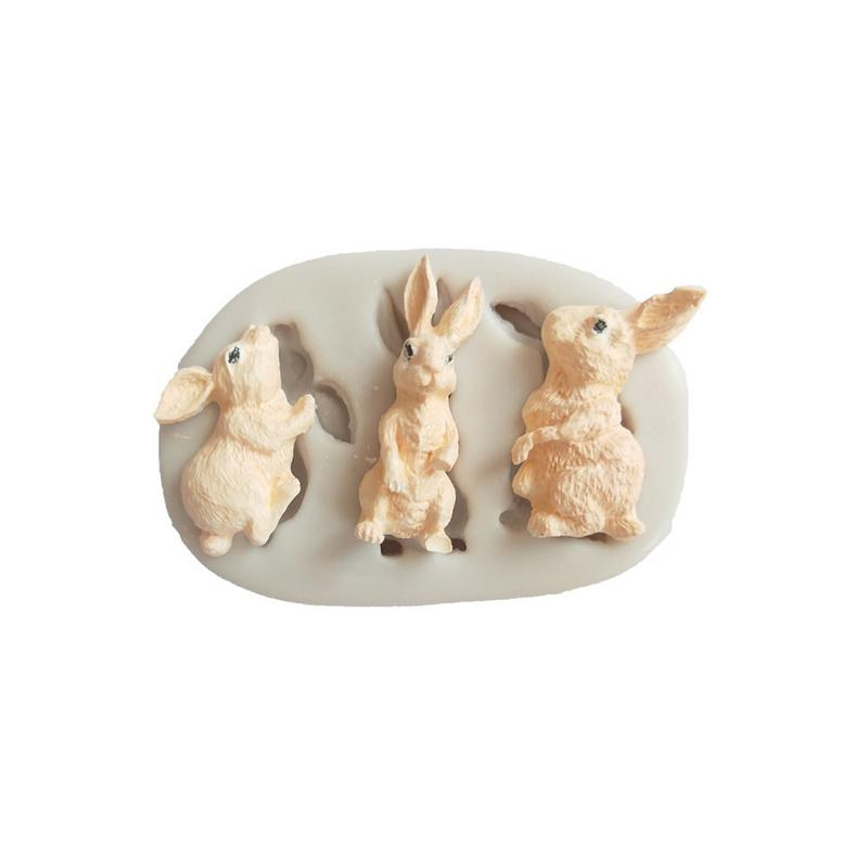 Liquid Silicone Mold Rabbit Fondant Mold Cake Decoration Accessories DIY Plaster Aromatherapy Making Tool Baking Supplies