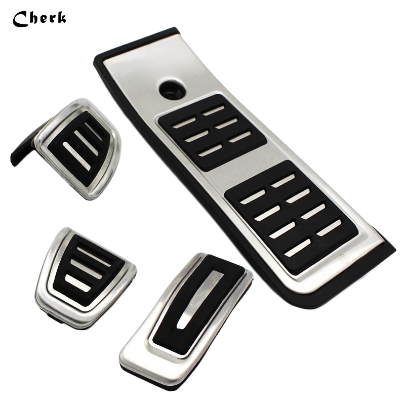 High Quality Aluminum MT NO DRILL Footrest Pedal Throttle Plate Gas For Audi A4 A5 A6 A7 Q5 Manual Metal Foot Rest Fuel Brake travel dedicated lazy people pedal foot rest for airplane high speed railway