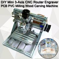 DIY Mini 3 Axis Router CNC 1610 GRBL Control CNC Machine Engraver PCB PVC Milling Wood