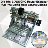 DIY Mini 3 Axis Router CNC 1610 GRBL Control CNC Machine Engraver PCB PVC Milling Wood