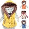 Nuevas mujeres calientes chalecos chaleco más tamaño sin mangas Femininas algodón chalecos con capucha chaqueta mujeres chaleco