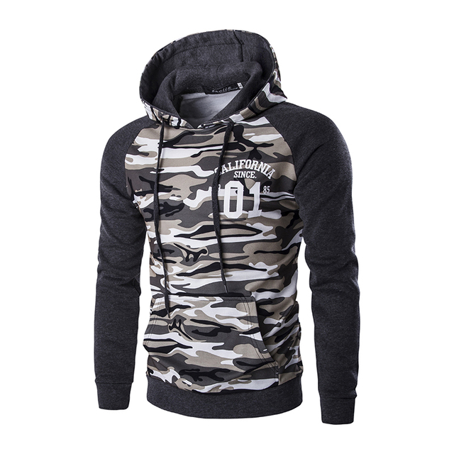 M 2xl 2016 Popular Brazil Mens Hooded Coats Camouflage Military