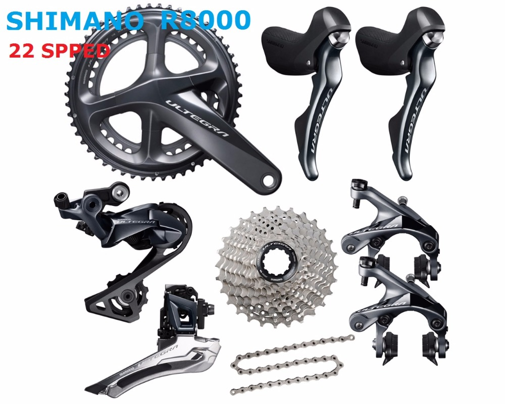 Shimano Ultegra R8000 50/34T 53/59T 165/170/172.5/175mm 2*11 22 Speed road bike bicycle groupset Bicycle Parts west biking bike chain wheel 39 53t bicycle crank 170 175mm fit speed 9 mtb road bike cycling bicycle crank