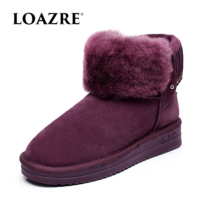 High quality Wholesale retail font b Women s b font Classic Snow Boots real Sheepskin winter