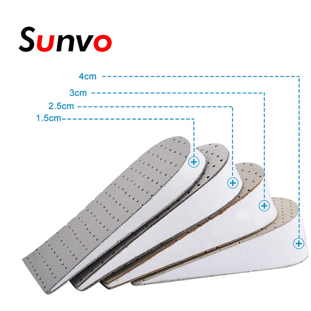 Sunvo Half Heighten Insoles Heel Insert Elevator Sports Shoes Pad Invisible Lift Taller For Up 1-4cm Height Increase Insole Pads