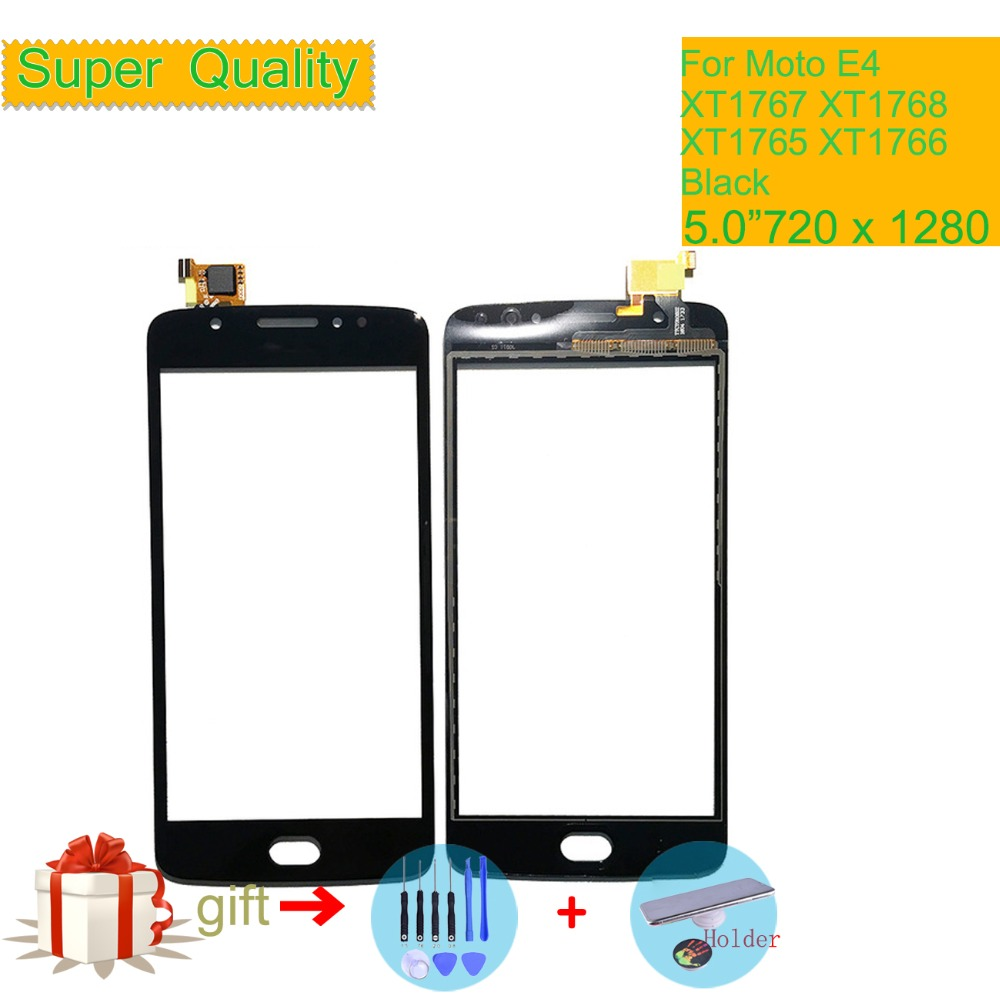 Touchscreen For Motorola Moto E4 XT1767 XT1768 XT1765 XT1766 Touch Screen Digitizer Front Glass Panel Sensor Black NO LCD 5.0""
