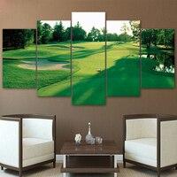 현대 포스터 홈 장식 벽 예술 거실 5 개 골프 녹색 랜드 그림 캔버스 인쇄 없음 액자