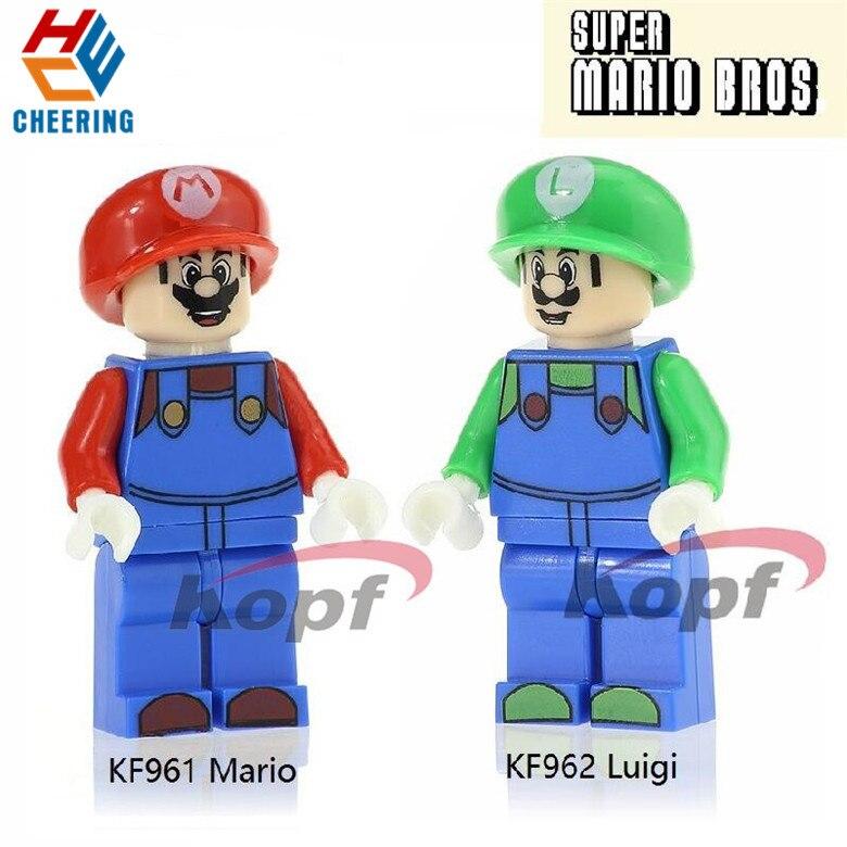 Building Blocks Super Heroes Mario Luigi Action Model Collection Toys For Children KF961