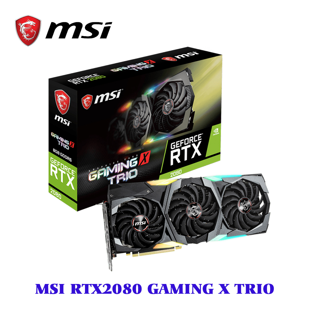 MSI видеокарта GeForce RTX 2080 GAMING X TRIO 8GB GDDR6 1860 MHz 2944 Units 256-bit 14 Gbps PCI Express x16 3.0 placa de video(China)