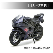 Maisto 1:18 Motorcycle Models YAMA YZF R1 Diecast Plastic Moto Miniature Race Toy For Gift Collection