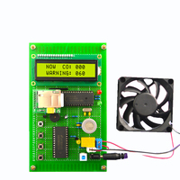 GSM Carbon monoxide alarm Electronic DIY Production Kit with LCD1602 MQ 7 ADC0809