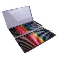 Cu3 Newest 72 Pcs Water Color Soluble Drawing Sketching Non Toxic Pencil Brush Artist