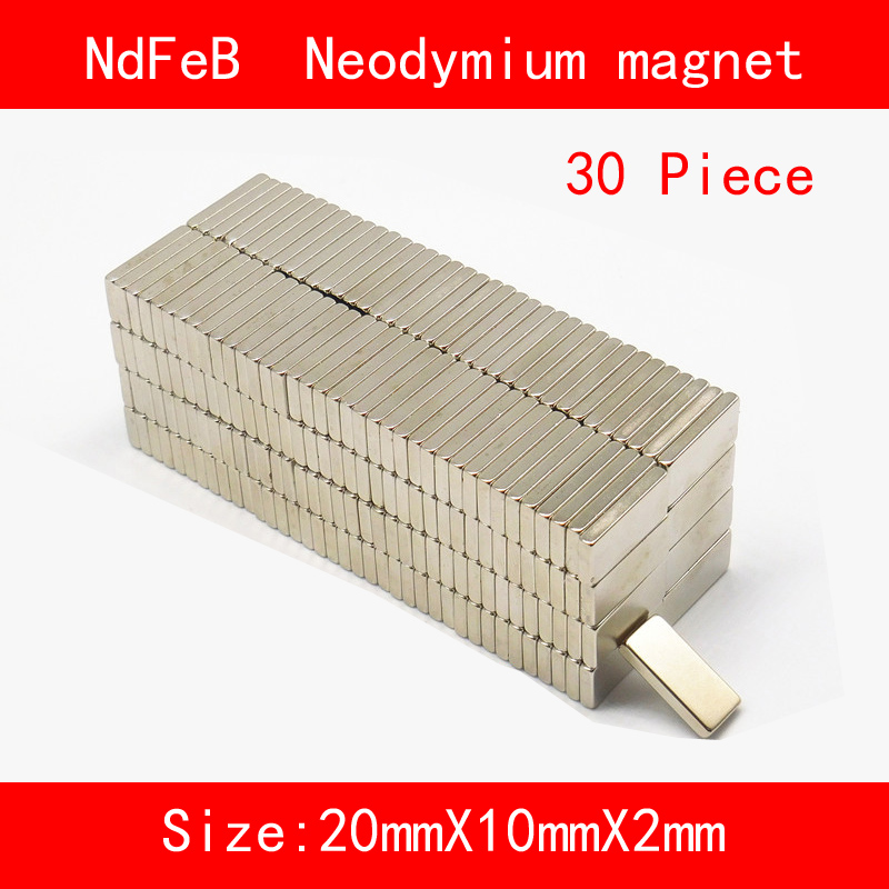 30PCS 20 5 5mm 20 10 2mm 30 5 3mm n35 Rare Earth strong permanent NdFeB Neodymium Magnet in Magnetic Materials from Home Improvement