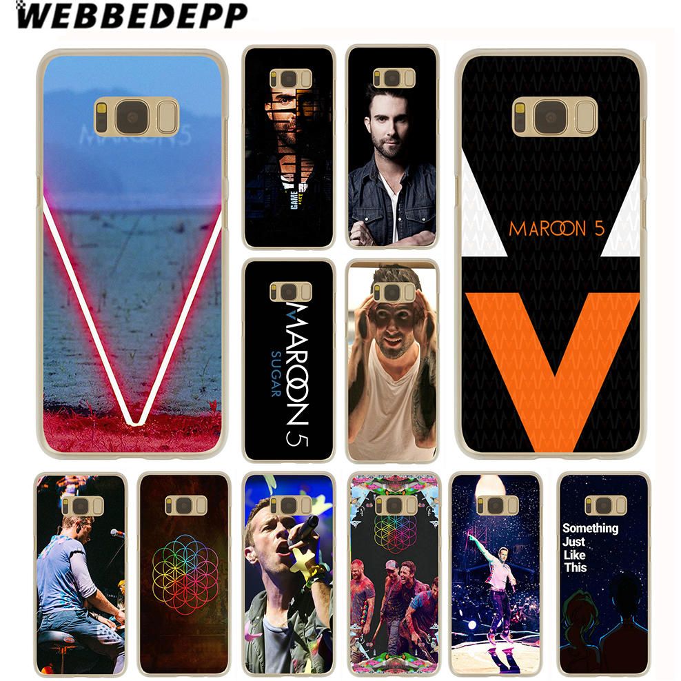 WEBBEDEPP Maroon 5 Coldplay Bands Case for Samsung Galaxy S9 S8 Plus S7 S6 Edge Plus S5 S4 S3