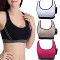 Professional bra wireless shockproof vest design young girl bra push up/ tank fitness bra