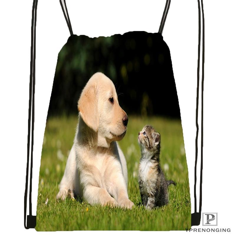 Custom Classic Yorkshire Terrier Drawstring Backpack Bag Cute Daypack Kids Satchel Black Back 31x40cm 180531 02