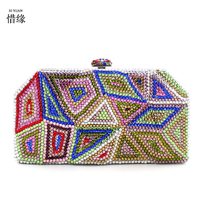 XI YUAN BRAND Women Clutch Bag Rhinestone Evening Purse Ladies Day Clutch Chain Handbag Bridal Wedding Party Bag Bolsa Mujer cтяжка пластиковая gembird nytfr 150x3 6 150мм черный 100шт