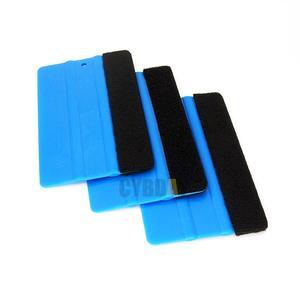 1 PCS سيارة الفينيل فيلم التفاف أدوات الأزرق مكشطة ممسحة مع شعر حافة حجم 12.5 cm * 8 cm سيارة التصميم ملصقات الملحقات