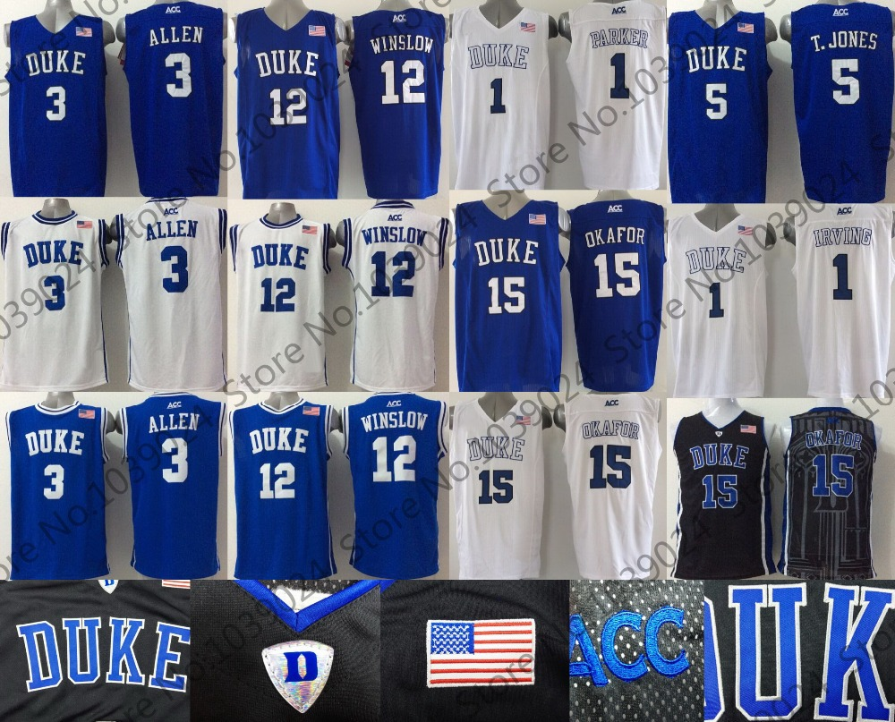 4c37522e0dd0 ... reduced grayson allen college justise winslow basketball tyus jones duke  blue devils jersey jabari parkerkyrie .