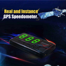 Universal Car HUD GPS Speedometer Head-Up Display Windshield Digital Speed Projector Overspeed Alarm