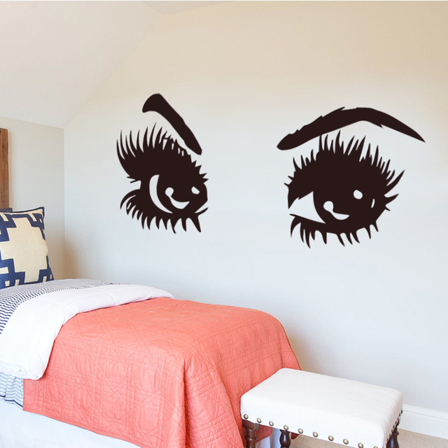 Sharp Eyes Wall Sticker Home Decoration Accessories Self Adhesive Wall Stickers for Living Room Bedroom DIY Vinyl Wall Decal