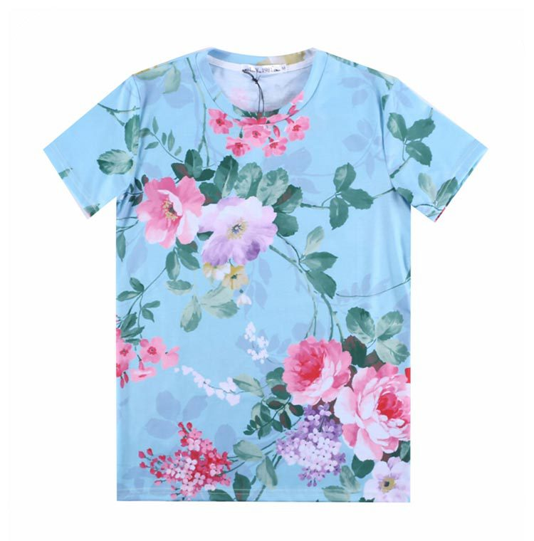 b76264c2f 2017 [Mikeal] LY1981 Newest Women/men 3d t-shirt beautiful Peony flower  printed t shirt Tops Tees cartoon Tshirt light blue A25