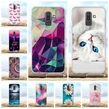 For Samsung Galaxy J8 2018 Case Silicon Flower 3D Cute Cover SM-J810F 6.0 Phone Cases