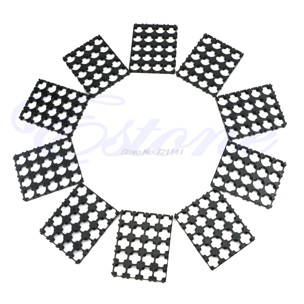 1 Set 10Pcs 4x5 Cell Spacer 18650 Battery Radiating Shell Pack Plastic Heat Holder Electronics Stocks Dropship