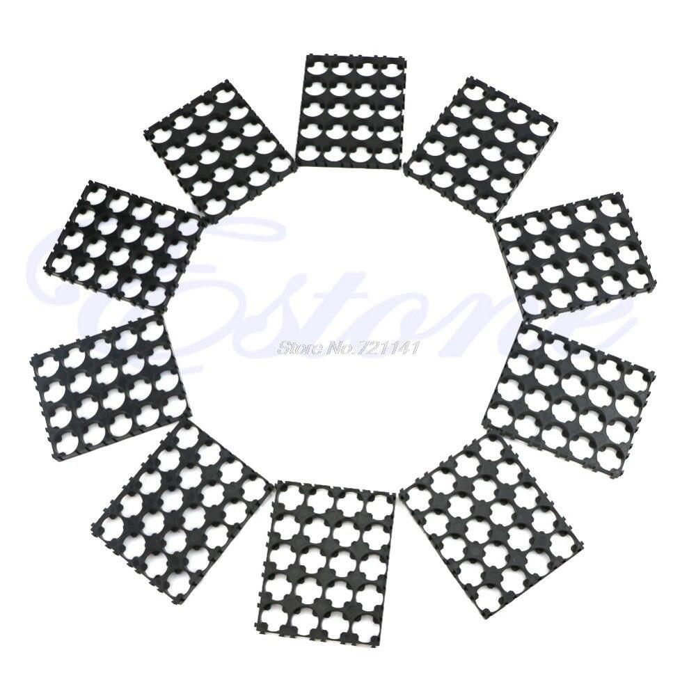 1 Set 10Pcs 4x5 Cell Spacer 18650 Battery Radiating Shell Pack Plastic Heat Holder Electronics Stocks Dropship