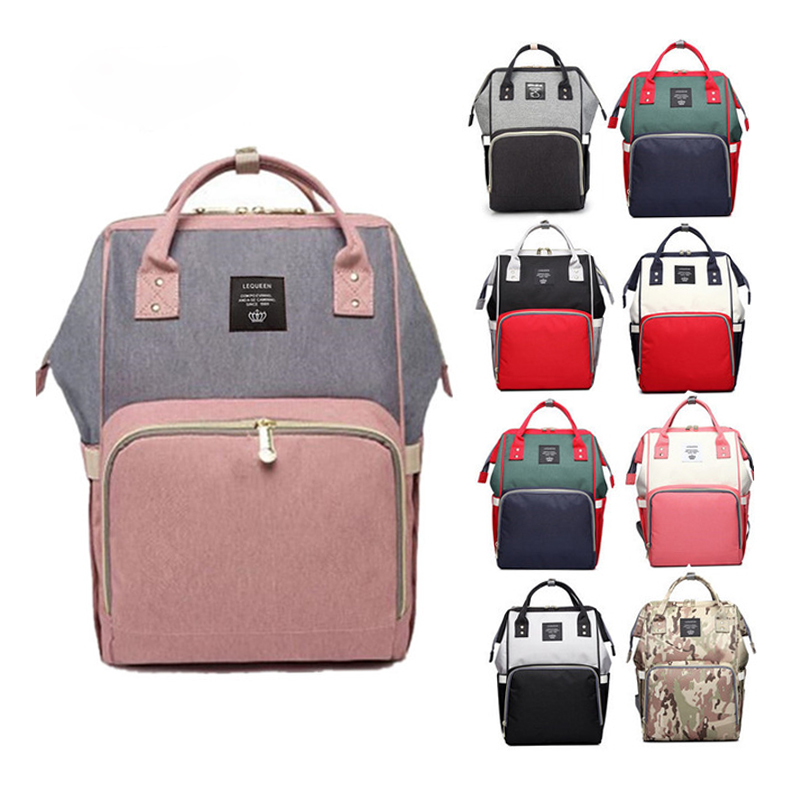 Diaper Bag Backpack For Babies Fashion Waterproof Mummy Maternity Nappy Changing Baby Bag Large Capacity Mommy Bags For Stroller