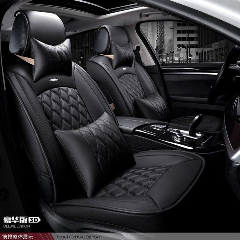 Для GMC Sierra Юкон черный бренд кофе роскошные мягкие кожаные чехлы на сиденья автомобиля спереди и сзади полный набор водонепроницаемый автом...