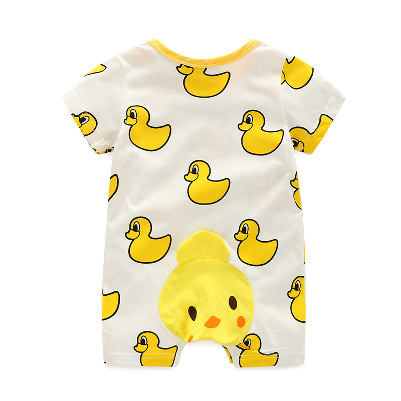 2017 Baby rompers summer style duck baby boy clothes newborn girl short sleeve Baby clothes children's Clothes baby  clothing baby clothing summer infant newborn baby romper short sleeve girl boys jumpsuit new born baby clothes