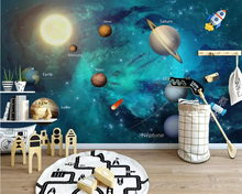 beibehang Custom wallpaper hand-painted space universe starry childrens room background wall decoration mural 3d