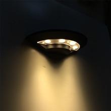 Наружные СВЕТОДИОДНЫЕ бра открытый бра 12 Вт светодиодные сад открытый настенные светильники современный 100-240 В алюминиевый нержавеющий