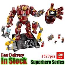 Lepin 07101 1527Pcs Marvel s The Avengers 3 Super Hero The 76105 Iron Man Anti Hulk
