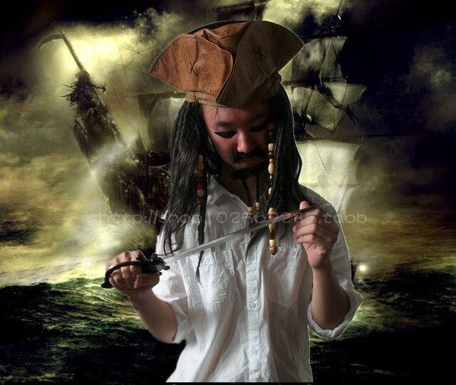 Dorosłych impreza z okazji halloween kapelusz przebranie na karnawał Jack kapitan pirat peruka czapka piracka pirat B-2916