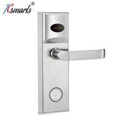 مقبض الباب قفل فندق قفل الباب مع ورق مقوى IC لأمن الوصول إلى غرفة الفندق