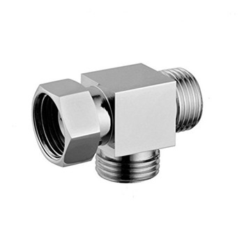 "1/2"" Brass Chrome 3 Way Diverter  Hose Fitting Tee T Shape Adapter Connector for Angle Valve Hose Bath Shower Arm Toilet Bide"