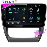 TOPNAVI Android 7,1 10 дюймов 4 ядра автомагнитолы плеер для VW Jetta/Sagitar 2012 2013 2014 2015 стерео gps Navi 2Din MP3 BT