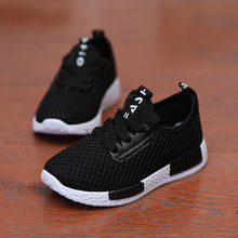 Boys net shoes soft bottom summer big children's sports shoes breathable single net hollow student casual shoes