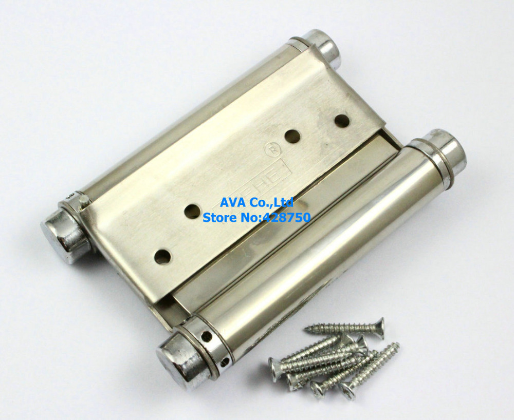 2 Pieces 4 Double Action Spring Hinge Saloon Cafe Door Hinge Swing Western Door 8 inch stainless steel double action concealed door silver spring hinges for saloon cafe door shop swing door 2pcs