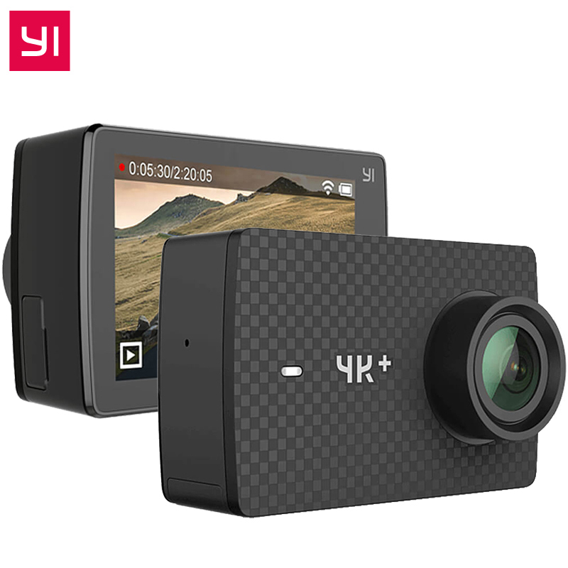 Original YI 4K Plus Action Camera 2.19' Ambarella H2 for SONY IMX377 12MP 155 Degree 4K Ultra HD YI 4K+ Sports Action Camera видеокамера sony fdr x1000v 4k